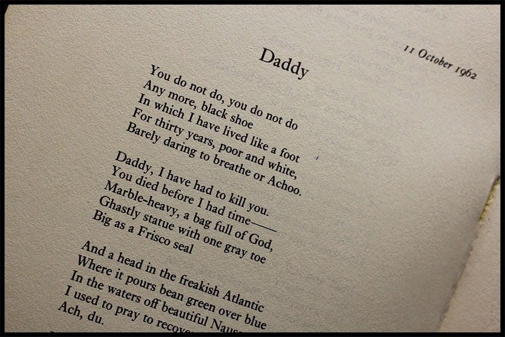 essays on sylvia plaths poem daddy