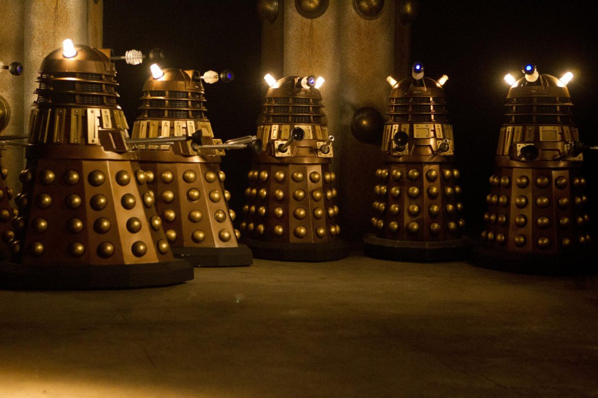 Daleks, Doctor Who's main enemies standing in a group